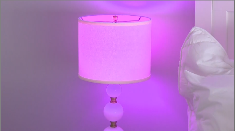 A lamp controlled through Wi-Fi and a smart plug. (CBS Newspath)<p></p>