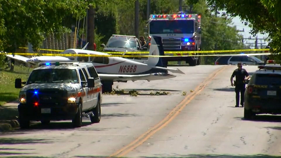 The plane crashed in the 600 block of Heimer Road. (SBG Photo)