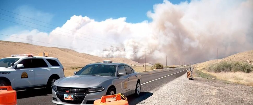 Firefighters in Utah County worked much of Tuesday to protect homes in the Pole Creek Fire evacuation and pre-evacuation zones. (Photo: KUTV)