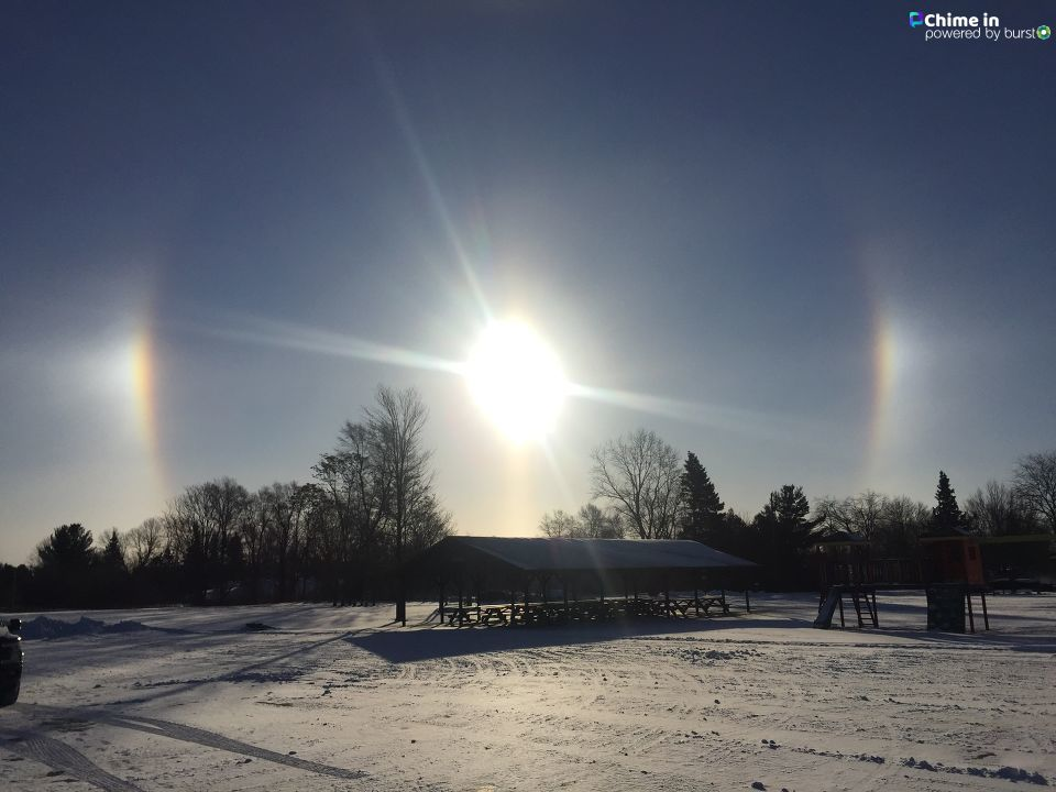 Picture of sundog from Kari Gaines