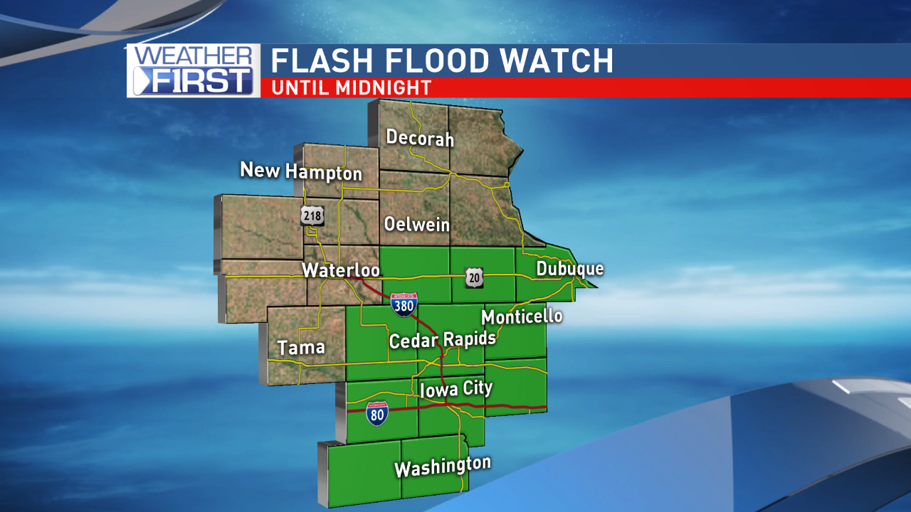 Flash Flood Watch through midnight Sunday