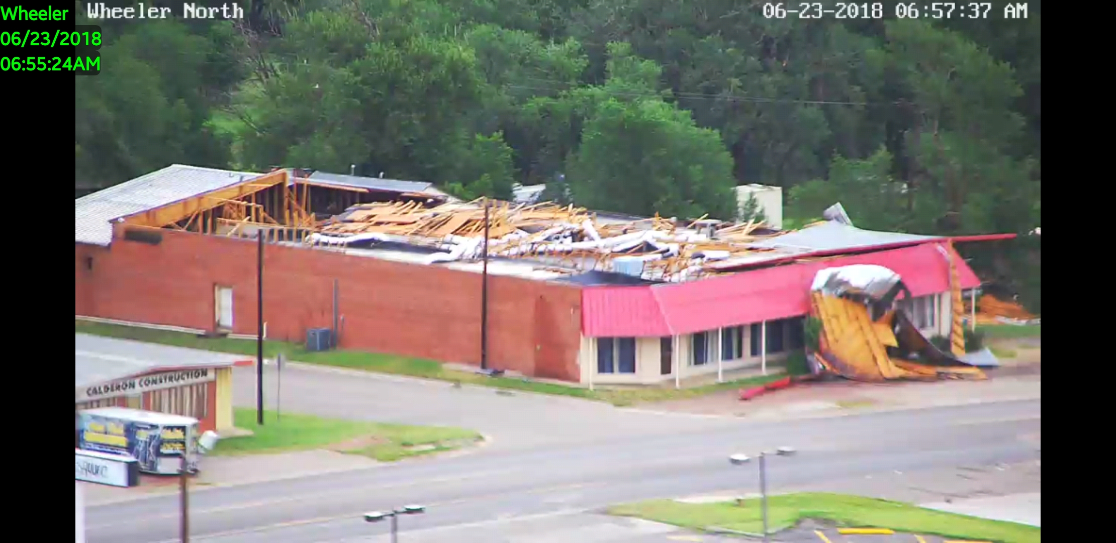 This damaged business is on Highway 152, just two or three blocks east of the courthouse....just beyond the Dairy Queen.{&amp;nbsp;}<p></p>