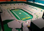 A model of Lambeau Field - made out of more than 130,000 Lego pieces - is on display Nov. 23, 2015, at the Neville Public Museum in Green Bay.