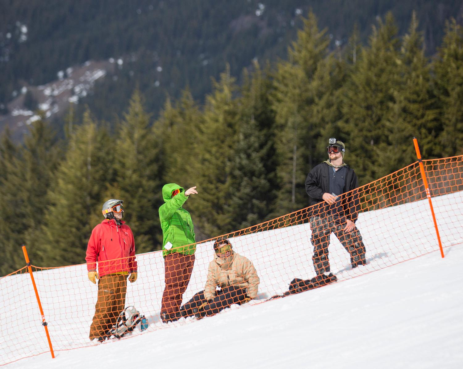 Clothes came off and the sun came out at Crystal Mountain for the annual Elysian Superfuzz Bikini Downhill fundraiser which benefited the Crystal Mountain Fire Department. Talk about a chilly day! (Sy Bean / Seattle Refined)