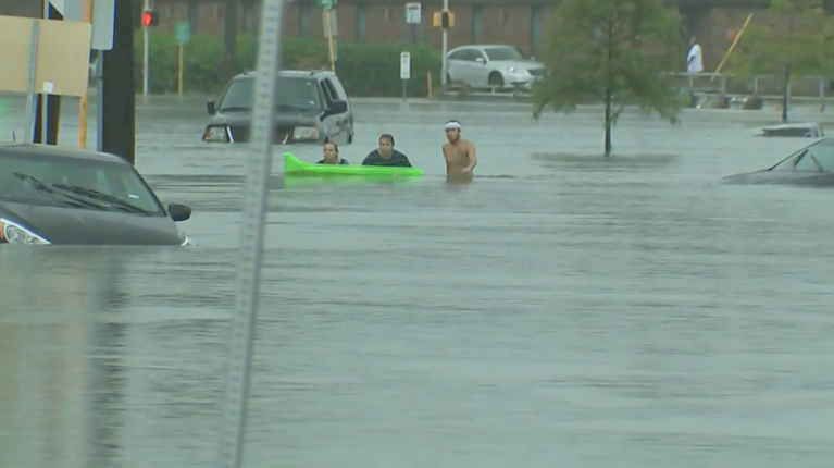 Flooding in Houston (KTRK/CNN)