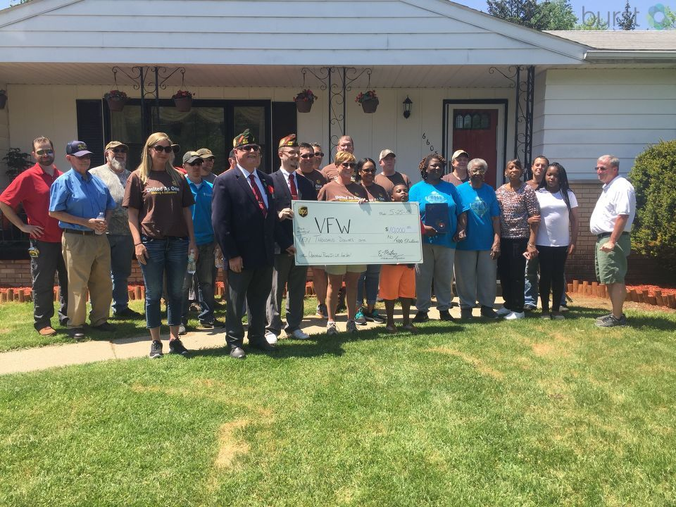 The community came together to help a veteran in need, just in time for Memorial Day. (Photo Credit: Sarah Jaeger)
