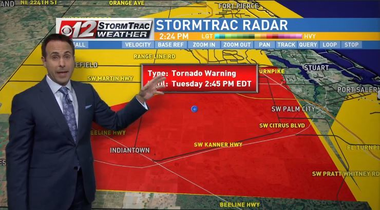 Tornado warning in Martin County until 2:45 p.m. (WPEC)
