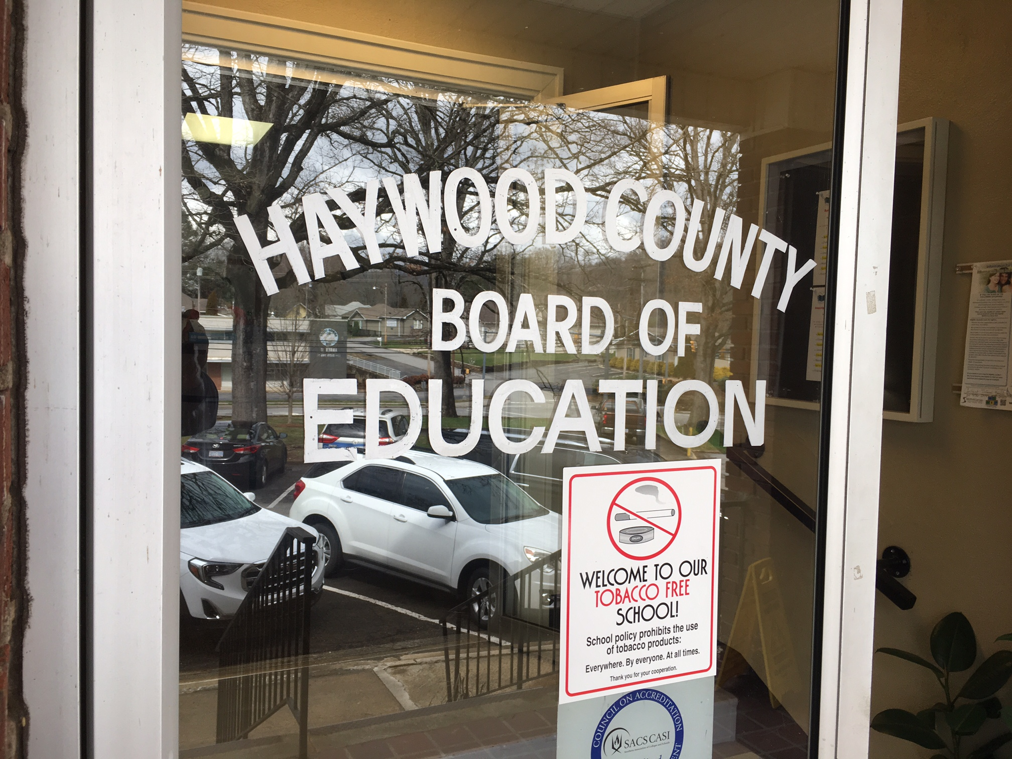 There will be no remote learning in Haywood County schools for a second day after a Ransomware attack against the district's computers. (Photo credit: WLOS staff)