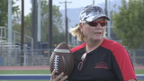 Hanks softball coach knighted by football team
