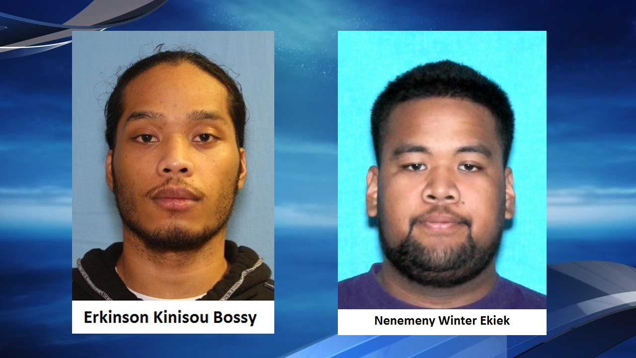 Police on Tuesday, Feb. 5, 2019 arrested two more suspects in the killing of Kayla Chapman, a Kelso woman. Erkinson Bossy was arrested after a pursuit into Oregon, which shut down Interstate 84. Earlier in the day, police arrested Nenemeny Ekiek. (Photos via Kelso Police Department)
