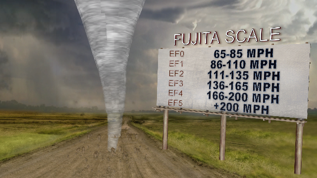 The Enhanced Fujita Scale estimates wind speed based on structural damage. (WWMT)<p></p>
