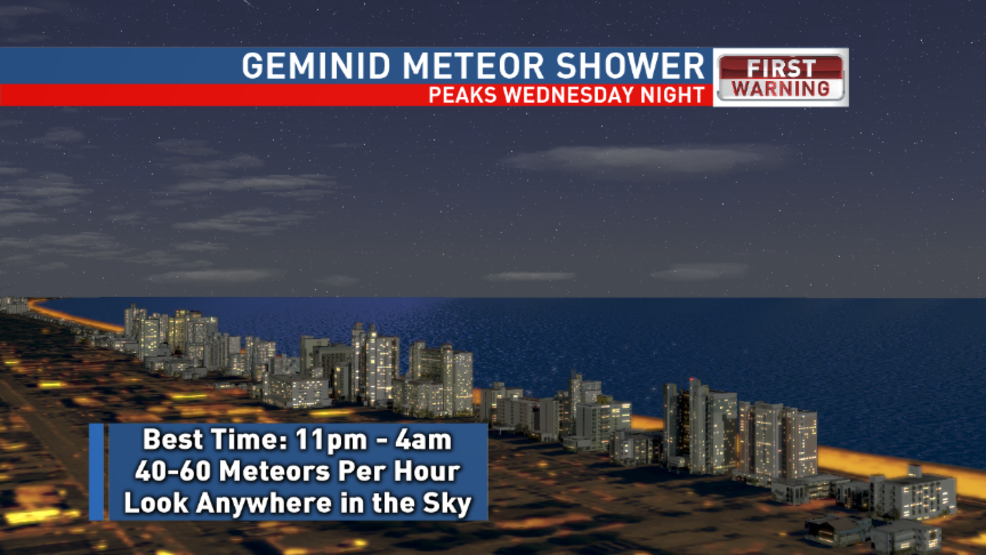 Forecast calls for shooting stars -- Geminid meteor shower expected to put on quite a show