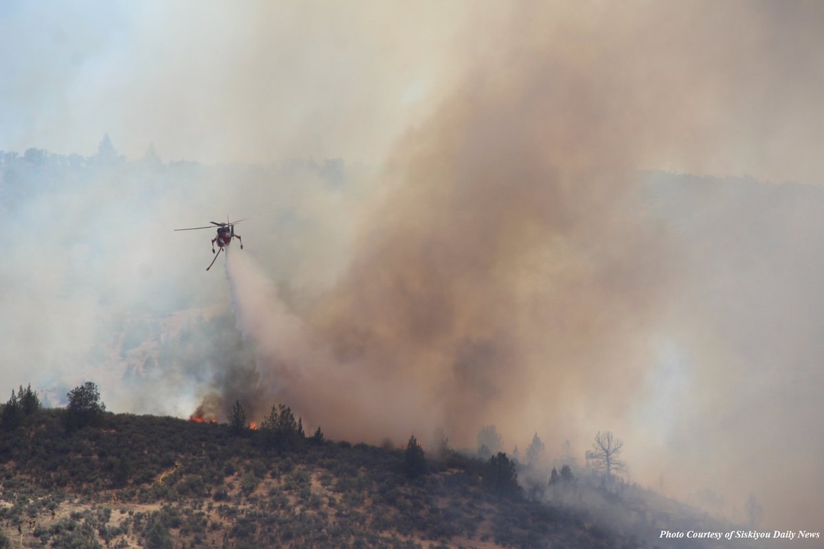 As of July 6, 2018, the Klamathon Fire was 8,000 acres and 5 percent contained. Photo courtesy Cal Fire