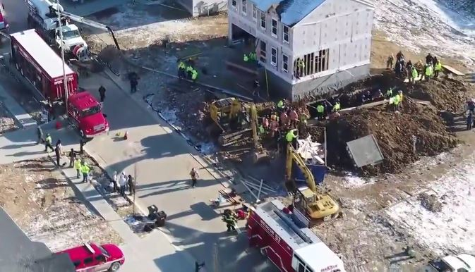 Rescue effort has turned into a recovery effort after a person became trapped in a trench collapse in Warren County