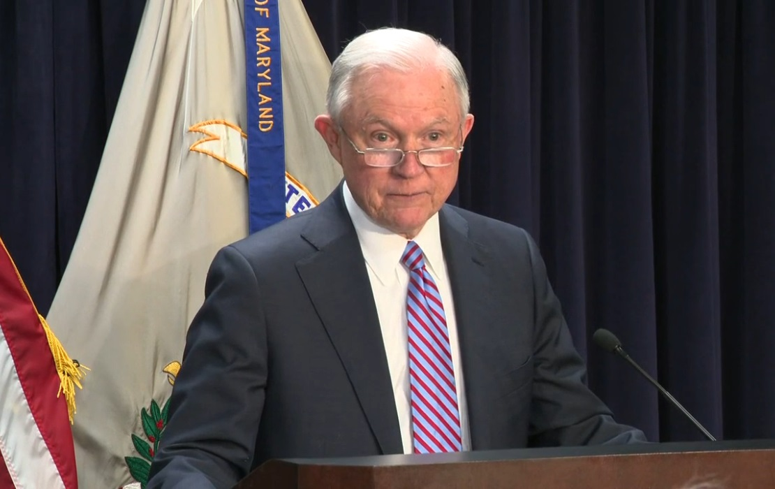 Sessions Speaks in Baltimore