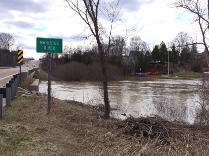 People living in flood plain affected by high river levels