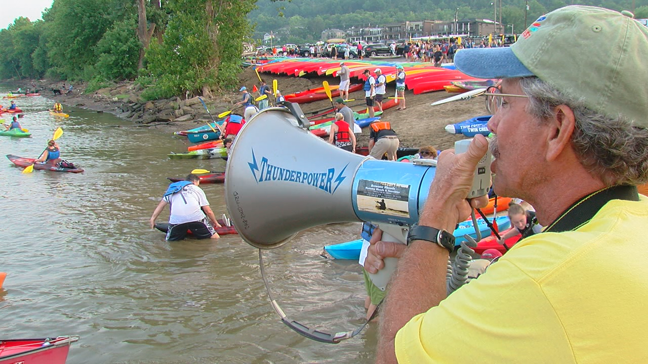 Ohio River Paddlefest draws thousands from 20 states. (WKRC)