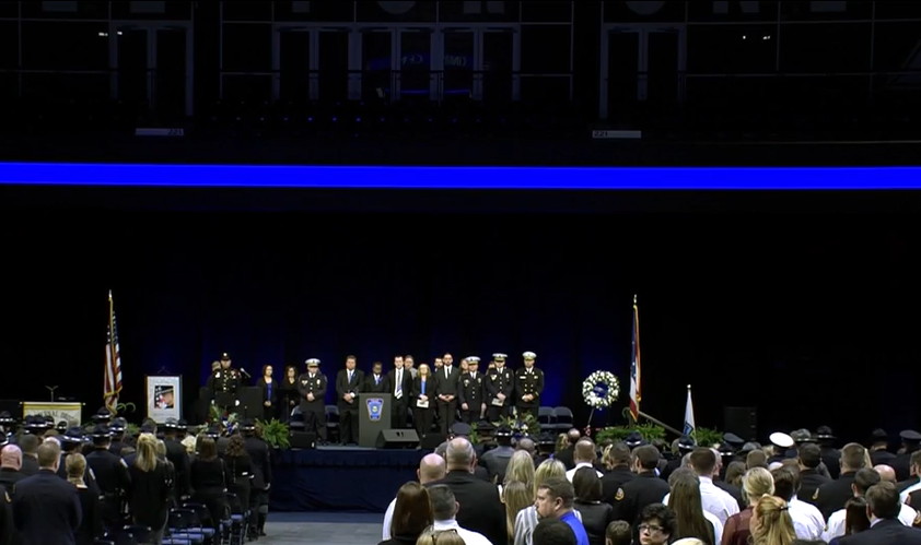 Procession and memorial service for Officer Dale Woods (WKRC)
