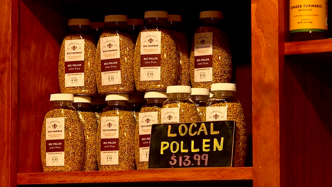 Asheville Bee Charmer shop. (Photo credit: WLOS Staff)