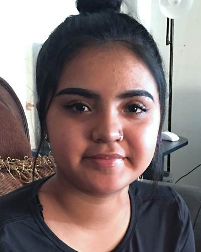 Hazel Esparza-Rangel, missing May 14, 2018, age 14{ } (Credit: National Center of Missing and Exploited Children)