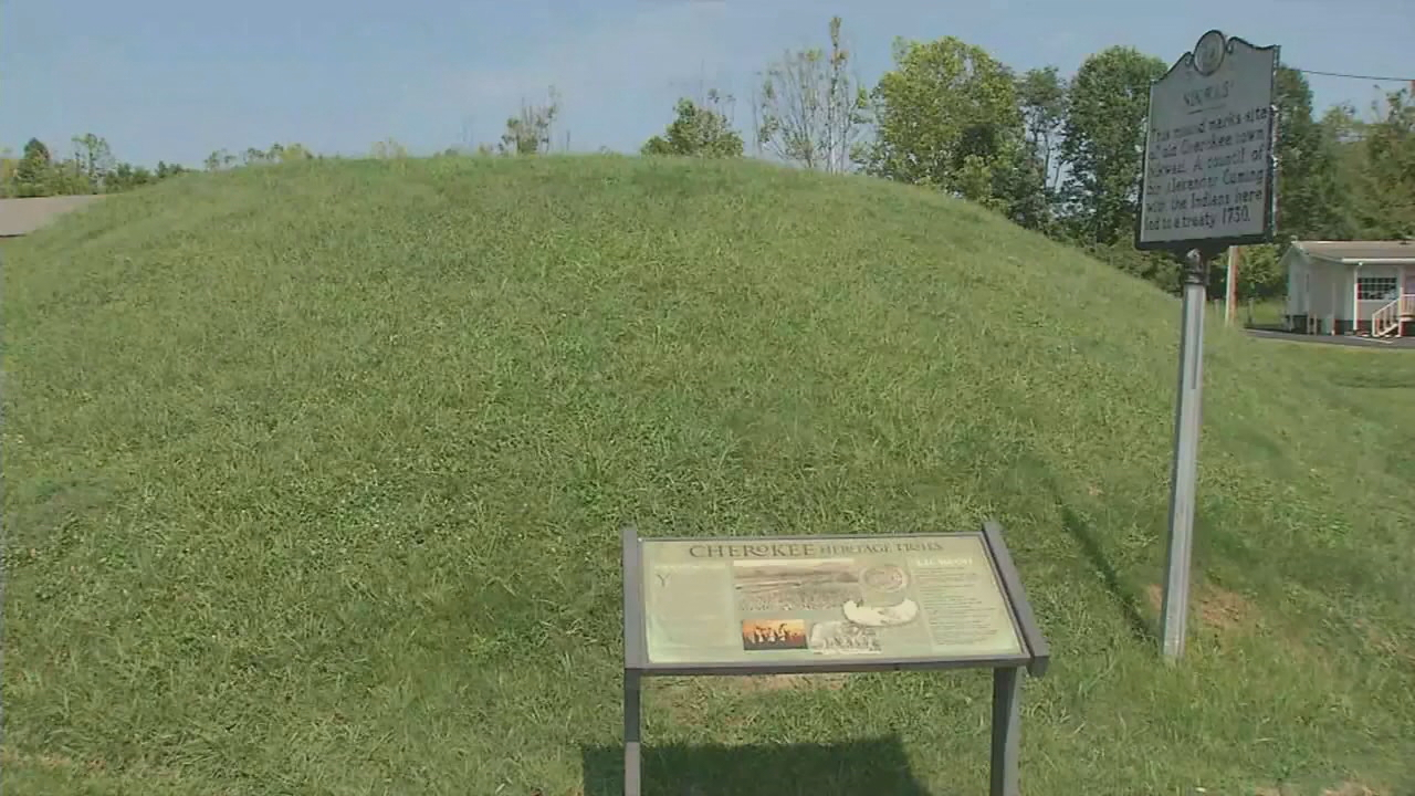 Five Macon County residents have filed a lawsuit against Franklin's town council over a proposal to shift ownership of Nikwasi mound to the nonprofit Nikwasi Initiative, a community development organization. The plaintiffs are asking the court to require the town to keep the deed. (Photo credit: WLOS taff)